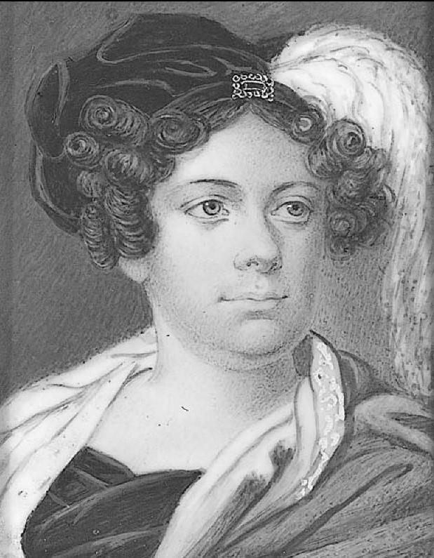 Portrait of Sara Torsslow (gouache). Artist and year unknown (Nationalmuseum, NMGrh 2557)