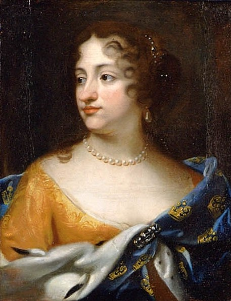 Ulrika Eleonora the Elder. Portrait (oil on canvas, 1677) attributed to Jacques D'Agar (1640-1715). Nationalmuseum, NMGrh 436