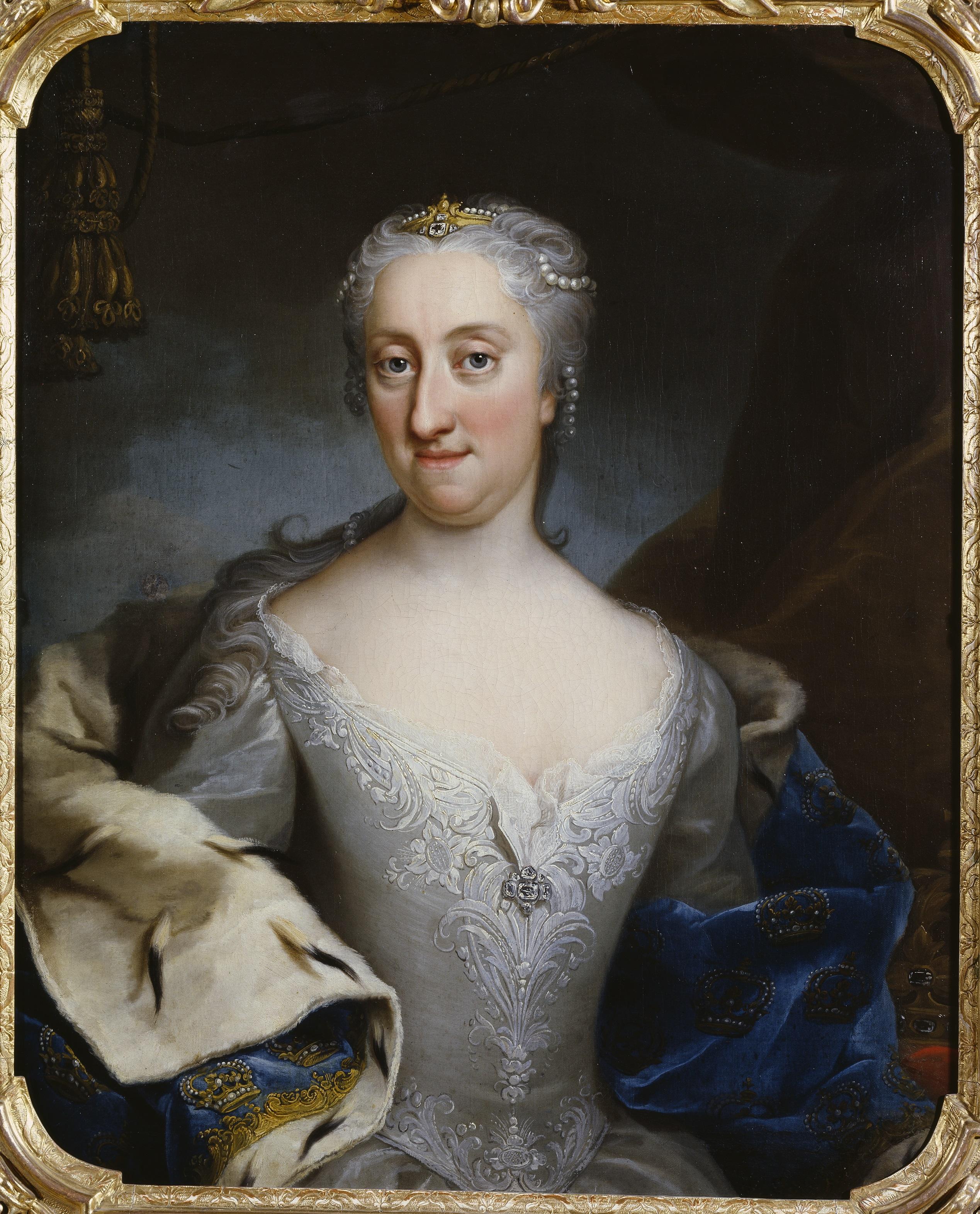 Ulrika Eleonora d.y. Porträtt från 1730, tillskrivet Martin van Meytens (1695–1770). Nationalmuseum. (Wikimedia Commons)