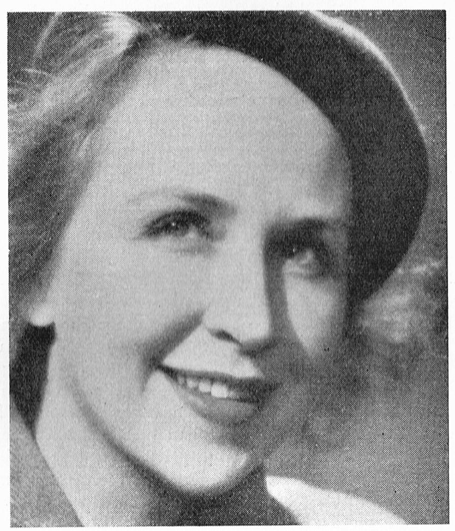 Birgitta Valberg i Hoogland, Claes & Gunnar Helén (red), Scenens ungdom, Stockholm, 1954. Fotograf okänd. Bildkälla: Svenskt Porträttarkiv (CC-BY-NC-SA 4.0 – beskuren)
