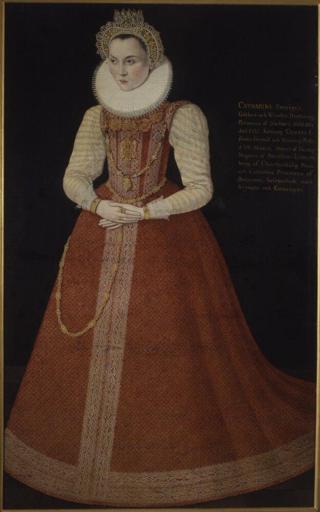 Porträtt som antas föreställa prinsessan Sofia. Konstnär och år okänt. Nationalmuseum, allmän egendom