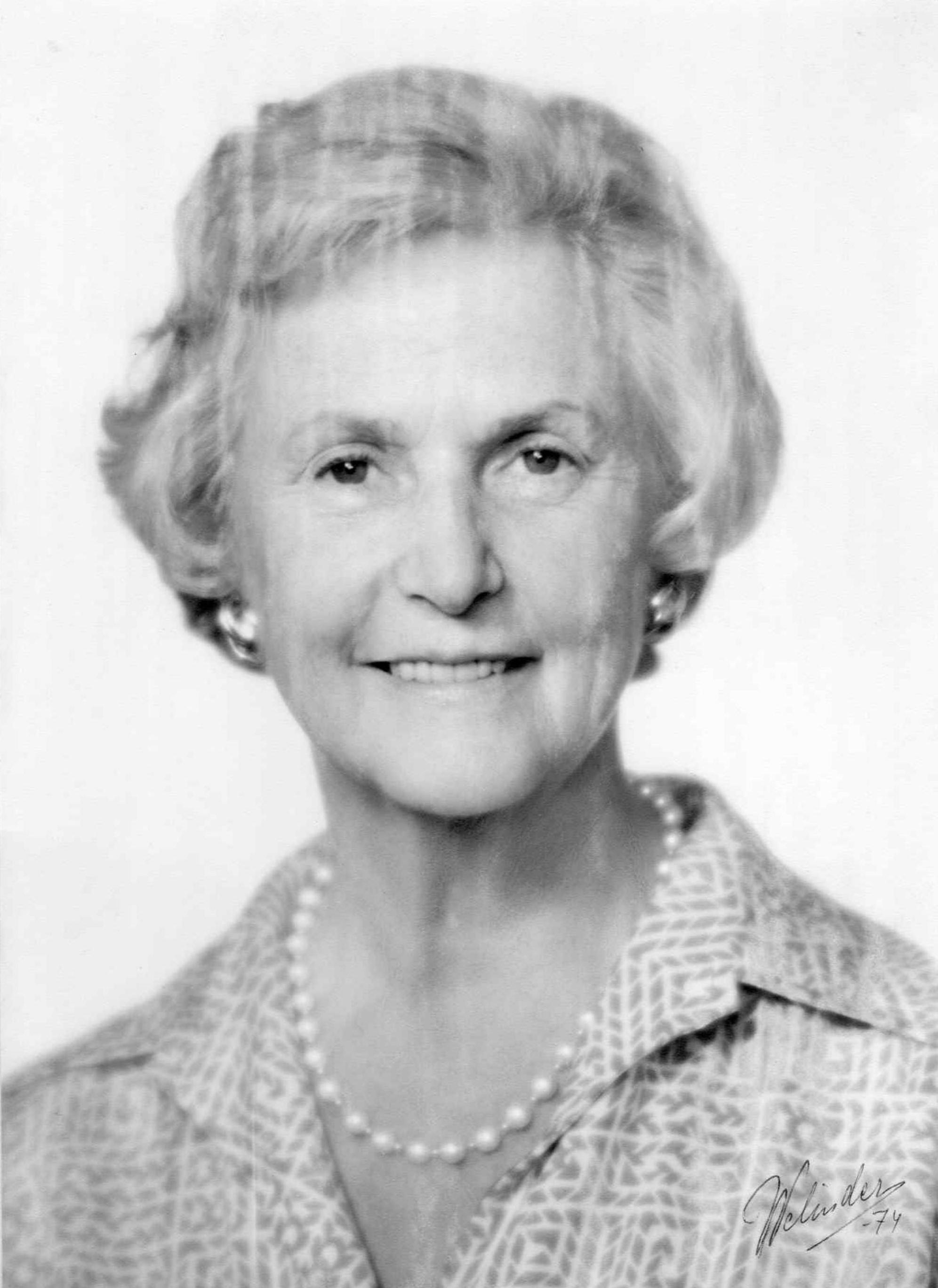 Margaretha von Schwerin, 1974. Photographer unknown (signed Welinder). Privately owned image