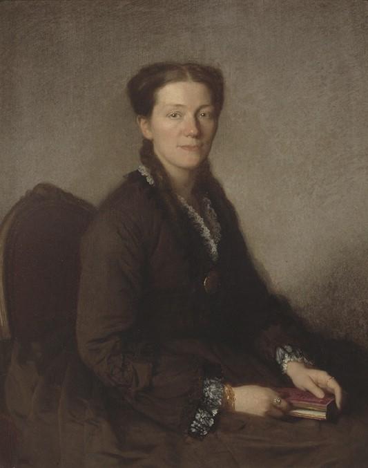 Anna Wallenberg. Portrait (oil on canvas) by Uno Troili, 1870. Målerisamlingen, Nationalmuseum (NMGrh 1941)