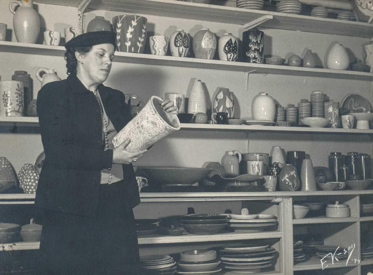 Maggie Wibom, circa 1944. Photo: Erik Karlsson (privately owned image)