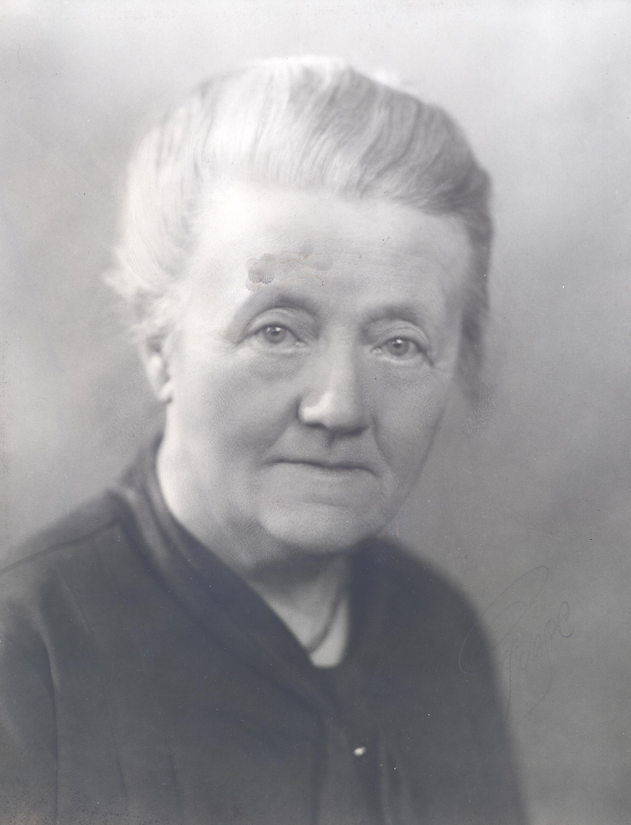 Matilda Widegren. Fotograf och år okänt (KvinnSam, Göteborgs universitetsbibliotek)