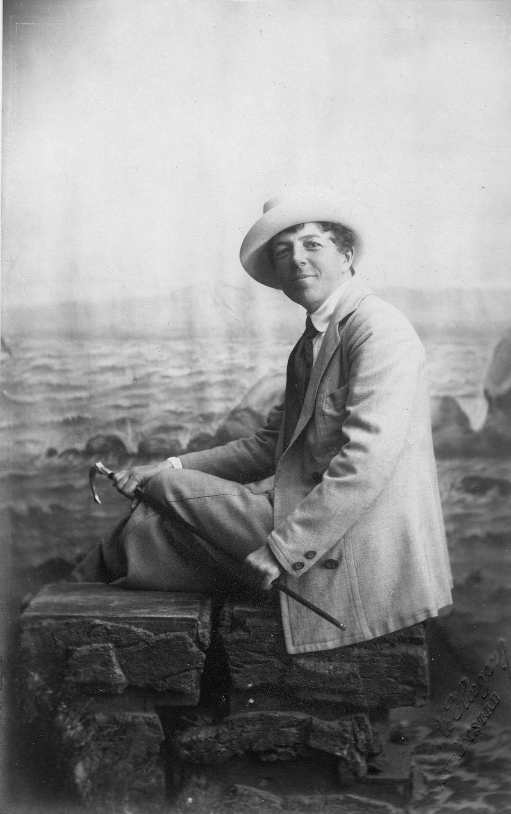 Janken Wiel-Hansen, circa 1910. Photo: Swante Haeger (1865-1915). Østfoldmuseene,  Halden historiske Samlinger