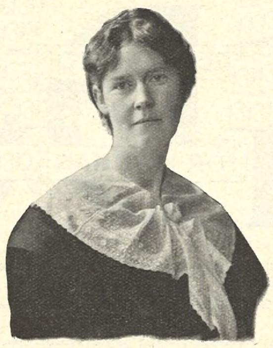 Agnes Wieslander in Idun nr 34, 1911. Photographer unknown (KvinnSam, Gothenburg University Library)