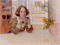 Annastina Alkman, porträtt av Carl Larsson