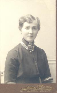 Eva Andén, porträtt, Atelier Hedström, Uppsala