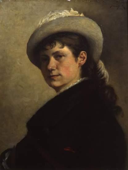 Julia Beck, självporträtt