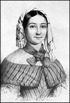 Emilie Flygare-Carlén. Litografi av J. Cardon, 1842.