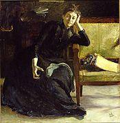 Eva Bonnier, porträtt av Richard Bergh, 1889