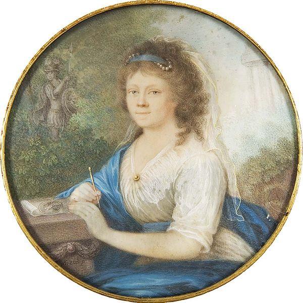 Amelie von Helvig. Portrait by Johann Lorenz Kreul, 1800. Image source: Auktionshaus Bergmann