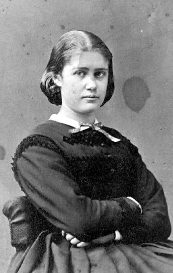 Caroline von Knorring, cirka 1864-1871. Självporträtt (Västergötlands museum, 1M16-B145198:202)