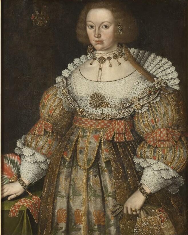 Portrait (oil on canvas, 1640) of Beata von Yxkull. Artist unknown (Nationalmuseum)